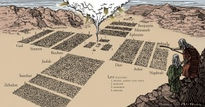 Israelites Camped around the Tabernacle in the wilderness